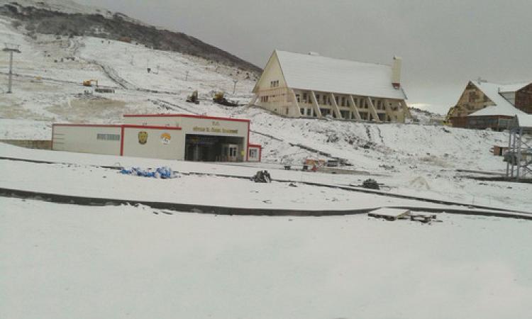 Yıldız Dağı'na kar yağdı