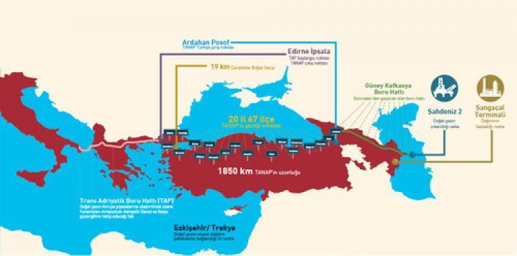 TANAP: Boru hattı inşaatı hızla ilerliyor