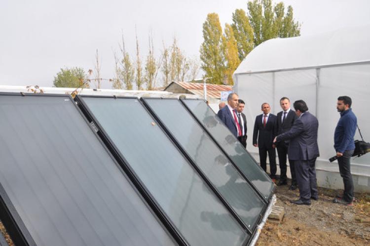 Erzurum'da güneş enerjili seracılık sistemi yaygınlaştırılıyor