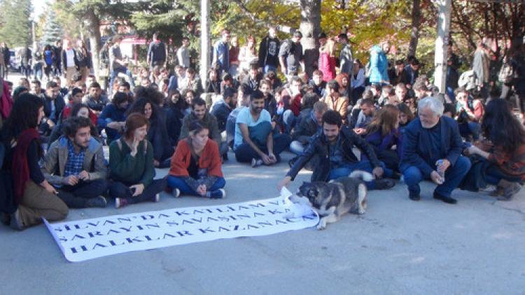 Üniversite öğrencileri, Silvan için oturma eylemi yaptı