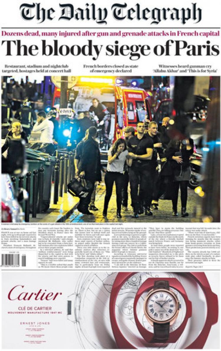 İngiliz basını: Paris sokaklarında katliam