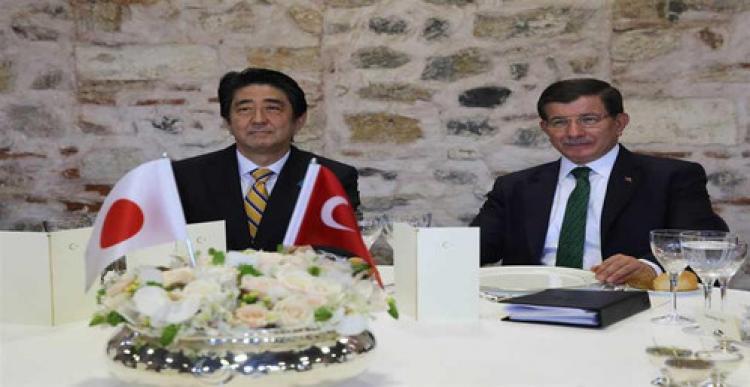 Davutoğlu, Japonya Başbakanı Abe ile görüştü