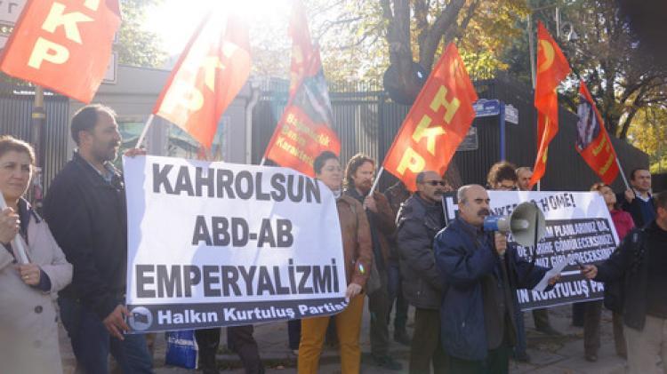 ABD Büyükelçiliği önünde G20 protestosu