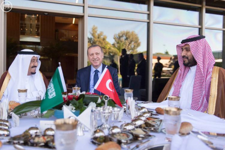 Erdoğan, Suud Kralı ile bir araya geldi