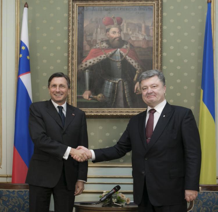 Ukrayna ve Slovenya liderleri maç öncesinde görüştü