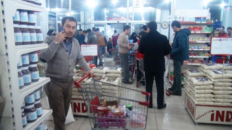 Şırnaklılar marketlere akın etti
