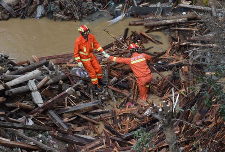 Çin'de toprak kayması: 16 ölü, 21 kayıp