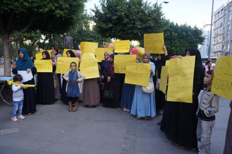 Adanalı kadınlar, G20'yi protesto etti
