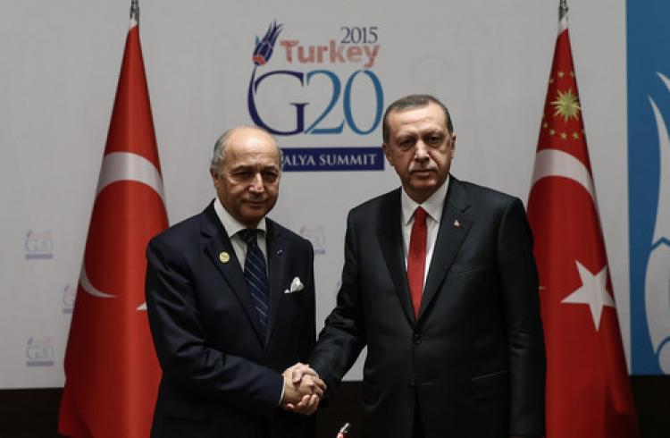 Erdoğan, Fransa dışişleri bakanını kabul etti