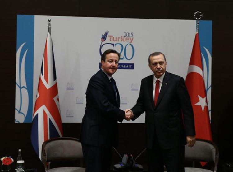 Erdoğan, Cameron'ı kabul etti
