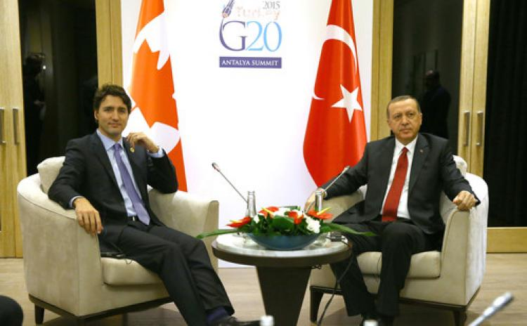 Erdoğan, Kanada başbakanı ile görüştü