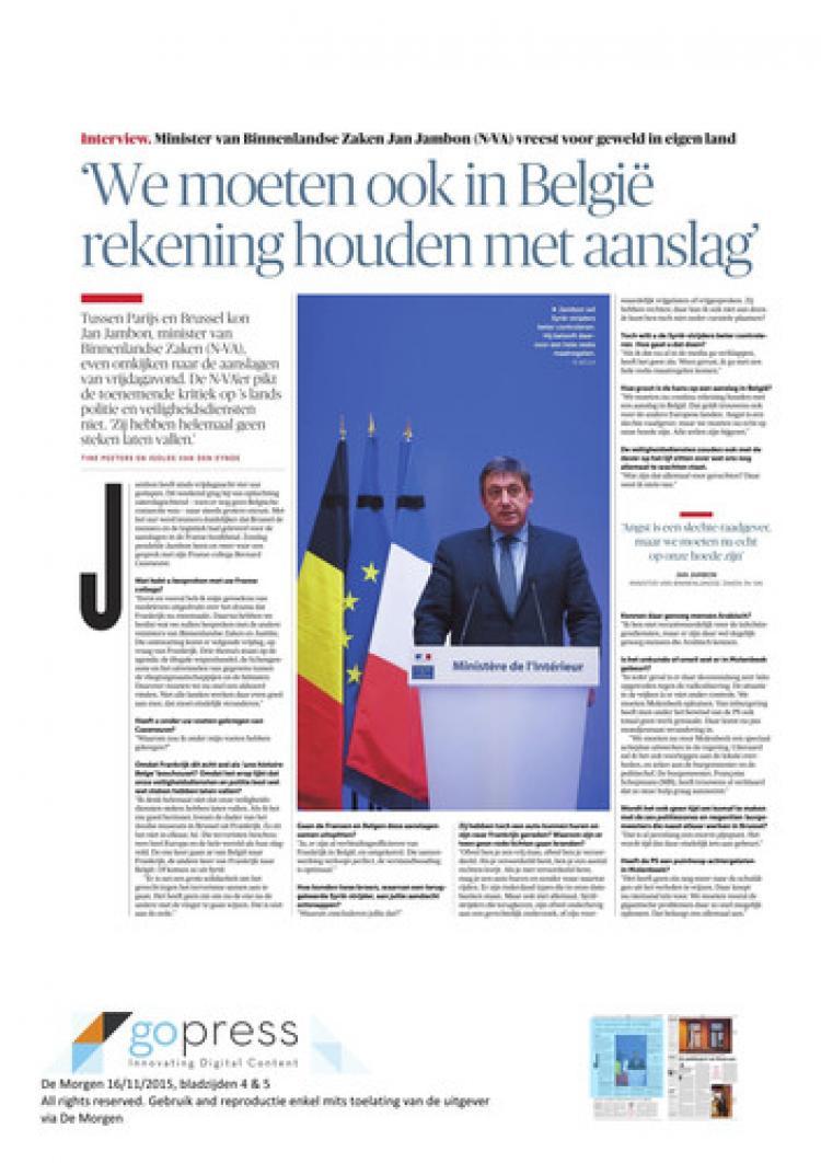 Jambon: Belçika'da da saldırılar olabilir