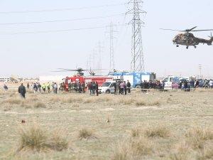 Konya'da eğitim uçağı düştü