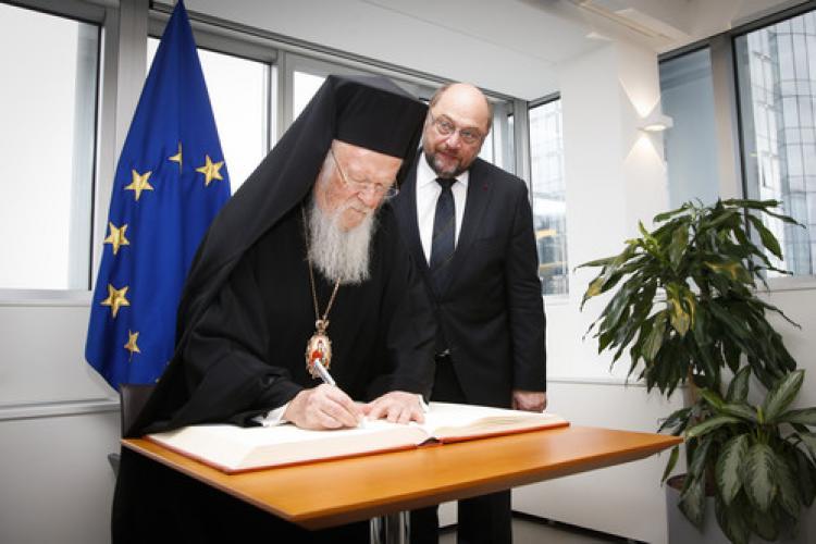 Bartholomeos, Avrupa Parlamentosu'nu ziyaret etti