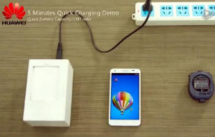 Huawei, 5 dakikada yarısı dolan telefon pili üretti