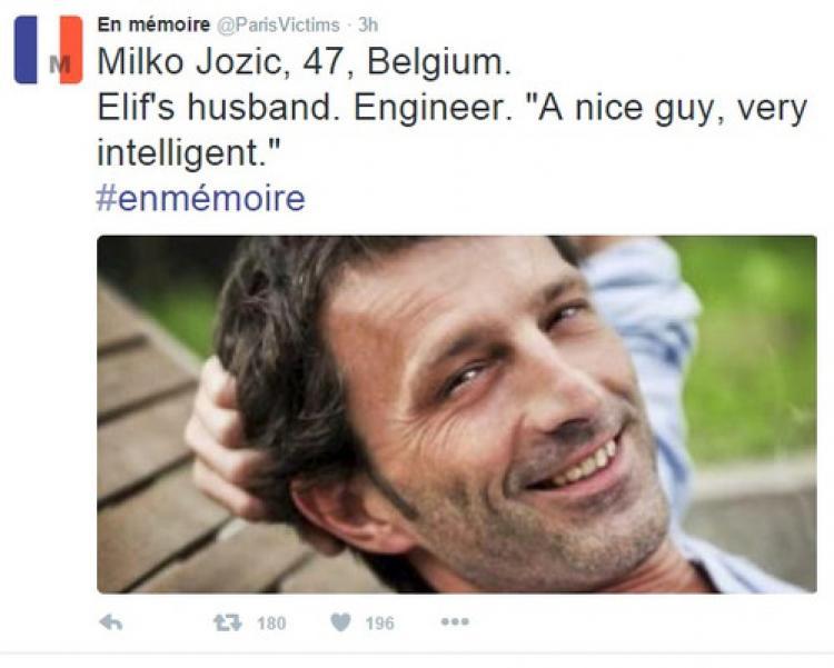 Paris saldırıları kurbanları Twitter'da anılıyor