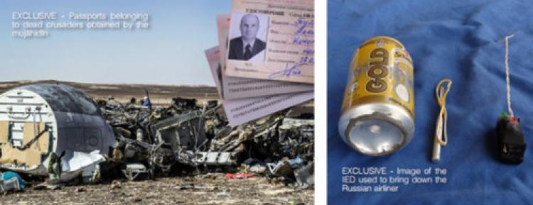 IŞİD, Rus uçağına bombayı nasıl koyduğunu ve bombanın fotoğrafını yayınladı