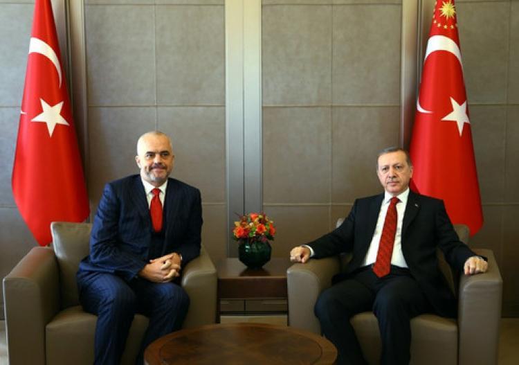 Erdoğan, Rama'yı kabul etti