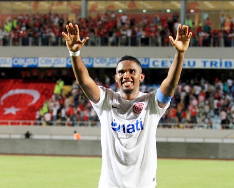 En fazla gol atan oyuncu Samuel Eto'o