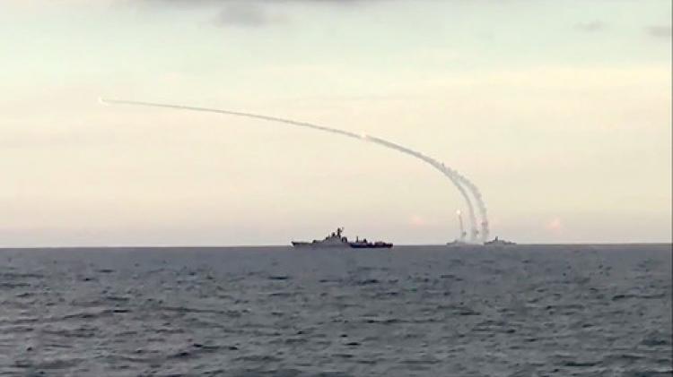Rusya, IŞİD'i Hazar Denizi'nden fırlattığı füzelerle tekrar vurdu