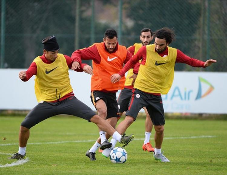 Galatasaray'da Atletico Madrid maçının hazırlıkları devam etti