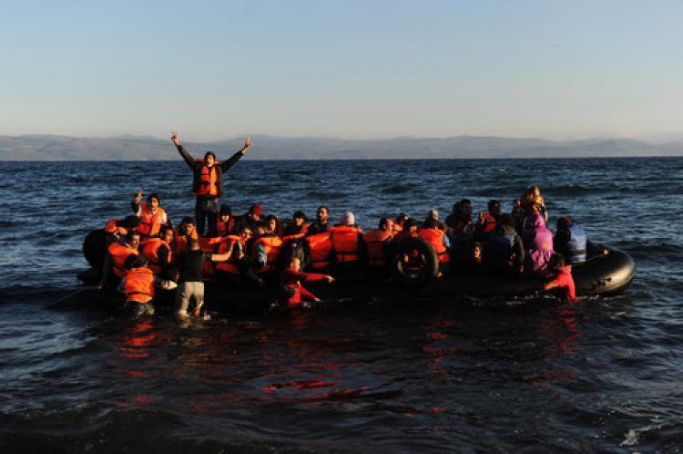 Mültecilerin Midilli yolculuğu