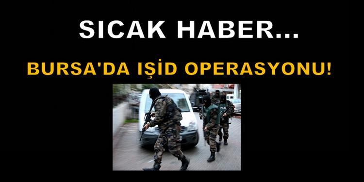 Bursa'da IŞİD operasyonu!
