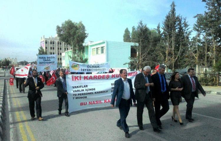 KKTC'de din görevlileri Başbakanlığa yürüdü
