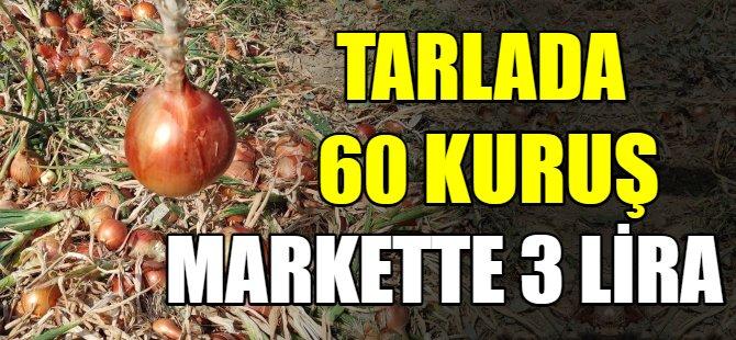 Tarlada 60 kuruş, markette 3 lira