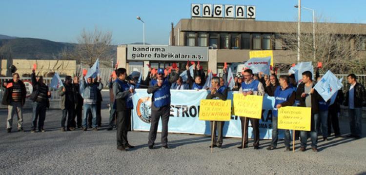 BAGFAŞ işçilerinden eylem