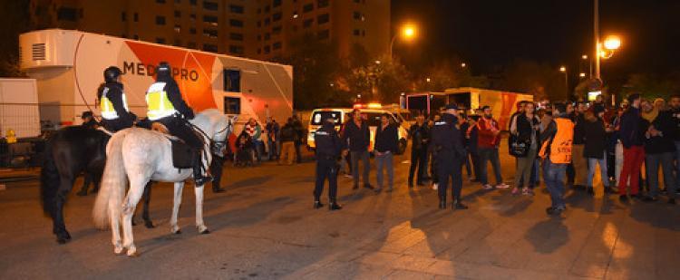 Atletico Madrid - Galatasaray maçı öncesi güvenlik önlemleri