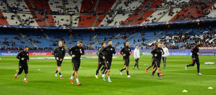 Atletico Madrid: 1 - Galatasaray: 0 (İlk yarı)