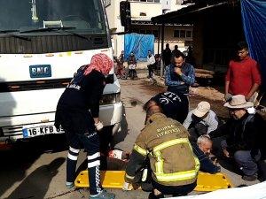 Kazada bacağı kopyu