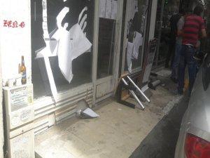 İçki saldırısına uğrayan dükkanın sahibi Koreli