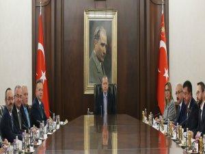 Cumhurbaşkanı Erdoğan heyeti kabul etti