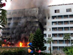 Otelde yangın paniği!
