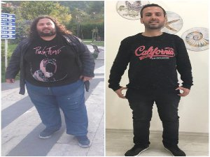 124 kilo verip, hayallerine kavuştu