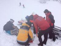 Acemi kayakçılar hastanelik oldu!
