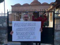 Bursa'da pankartlı protesto