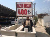Pazarda mezar satışı
