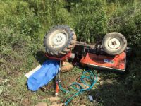 Traktör eğlencesi kötü bitti