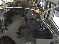 Bursa'da halk otobüsünde panik!