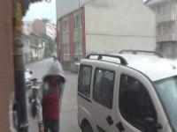 Bursa'da dolu yağdı