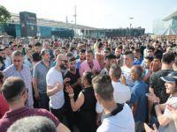 Bursa'da olaylı seyyar operasyonu