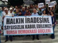 Bursa'da ulaşım zammı ve YSK kararına tepki!