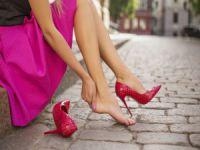 Yüksek topuklu ayakkabı giymeyin!
