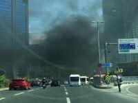 Rezidans inşaatında korkutan yangın