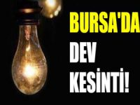 Bursa'da dev kesinti!
