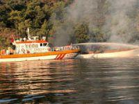 Teknede yangın: 1 ölü, 4 yaralı
