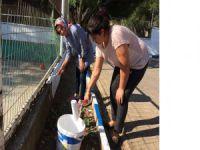 Bursa'da müdürler okulu boyadı!